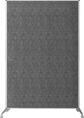 Bi-Office Mobiler Raumteiler, lärmschützend, mit Rollen feststellbar, L 1000 x B 1500