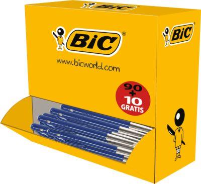 BIC® balpen M10 Voordeelpak blauw 90+10 GRATIS