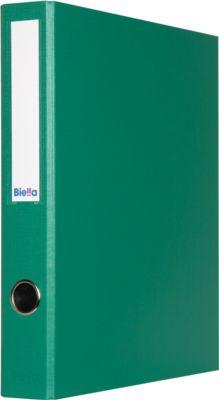 Biella  4-Ringordner Dinor-Quatro, A4, 70 mm, PP,  grün, 5 St.
