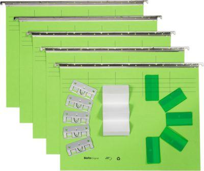 Biella Hängemappensatz komplett Original,Set 5 Stk, hellgrün