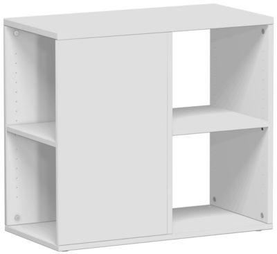 Bijzetkast PALENQUE, aan 3 zijden open, b 400 x d 800 x h 720 mm, lichtgrijs