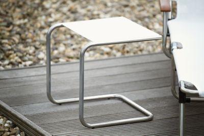 Bijzettafel Club, aluminium/wit