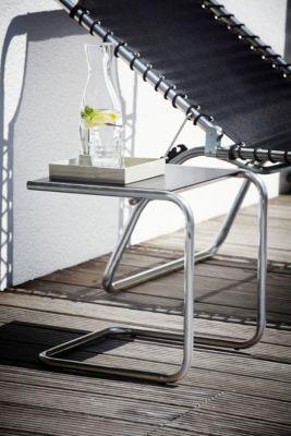Bijzettafel Club, aluminium/zwart
