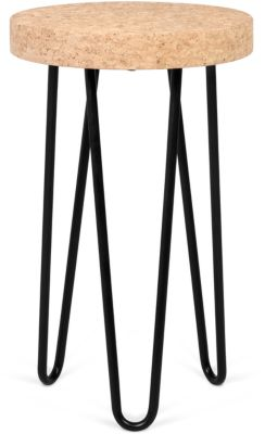 Bijzettafel DRUM, D 290 x H 470 mm, kurkblad
