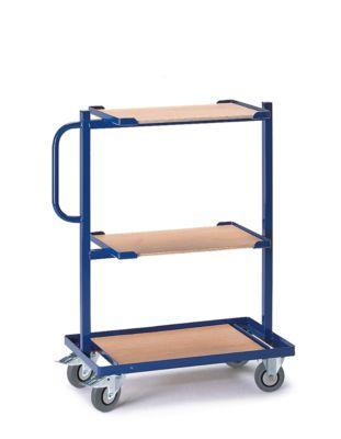 Bijzetwagen met houten planken, vast