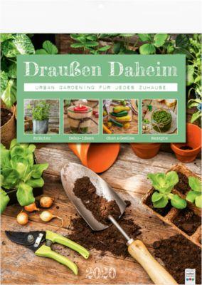 """Bildkalender """"Draußen daheim"""", 245 x 345 mm, deutschsprachig, mit Garten-Tipps, Werbefläche"""