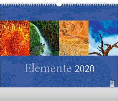 """Bildkalender """"Elemente"""", 440 x 360 mm, 4-sprachig, Landschaftsmotive, Werbefläche"""
