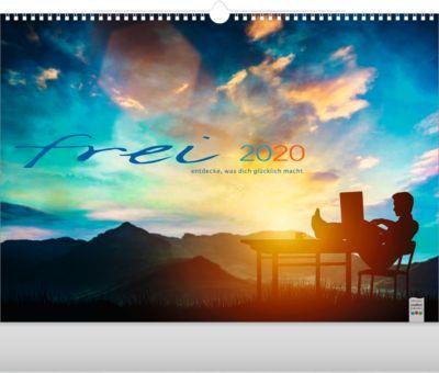 """Bildkalender """"frei"""", 440 x 360 mm, deutschspr., mit Motiven & Sprüchen, Werbedruck je Monatsblatt"""