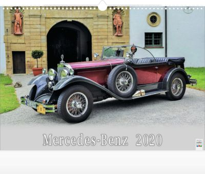 """Bildkalender """"Mercedes-Benz"""", 440 x 360 mm, deutschsprachig, Oldtimer-Motive, mit Werbefläche"""