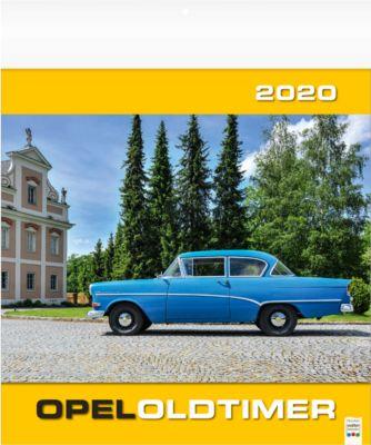 """Bildkalender """"Opel-Oldtimer"""", 325 x 390 mm, 5-sprachig, mit Werbefläche 325 x 60 mm"""
