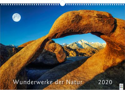 "Bildkalender ""Wunderwerke der Natur"", 490 x 340 mm, 4-sprachig, Werbedruck je Monatsblatt"