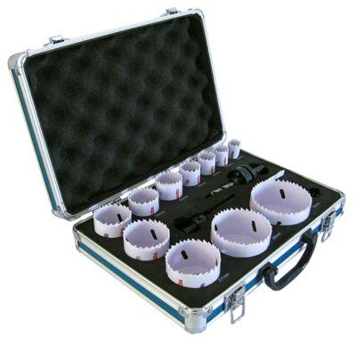 BIM gatenzaagset, 11-gaats zaaginzetstukken + 2 adapters + 1 uitwerppen, 14 stuks