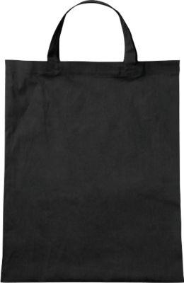 Bio-Baumwoll-Tasche, kurz, schwarz