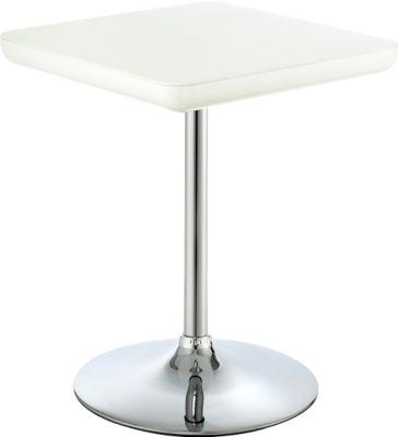 Bistro-Tisch COLOR H 720 mm, weiß/weiß