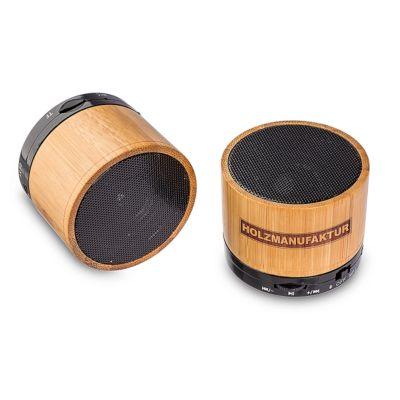 Bluetooth Lautsprecher Boogie Bambus Metall/Bambusholz 3 Watt Musikleistung