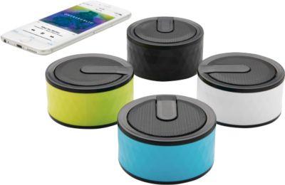 Bluetooth-Lautsprecher GEOMETRIC, 3 Watt Lautsprecher, Bluetooth 2.1, schw.