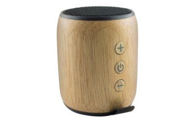 Bluetooth-Lautsprecher HEJU Betula, 5 W, BT 4.0, bis 4 h Spielzeit, Holz, Werbefläche 35 x 15 mm