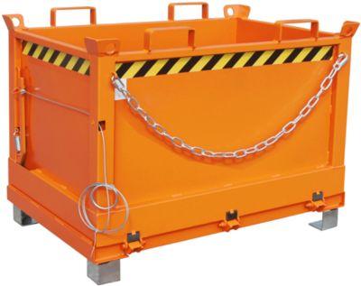 Bodemklepcontainers FB, 0,5 m³, oranje