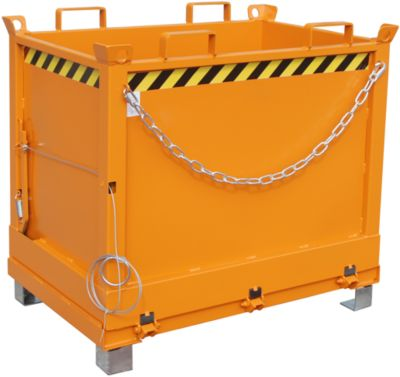 Bodemklepcontainers FB, 0,75 m³, oranje