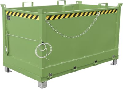 Bodemklepcontainers FB, 1,5 m³, groen