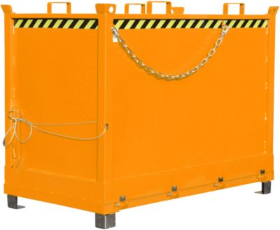 Bodemklepcontainers FB, 2,0 m³, oranje