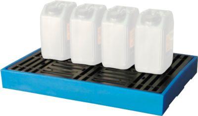 Bodenwanne, für 2 x 100 L Fässer, abnehmbares Kunststoffgitterrost