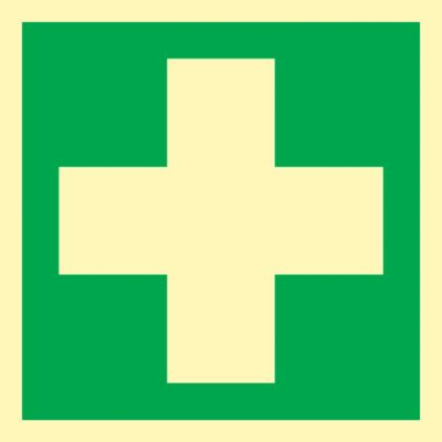 Bord EHBO, eerste hulp, folie (HLF)