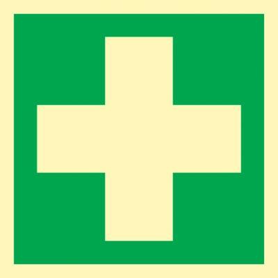 Bord EHBO, eerste hulp, kunststof (HLK)