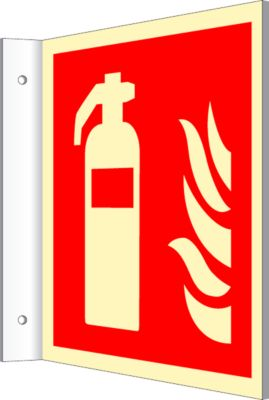 Bord met afbeelding van een brandblusapparaat