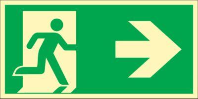 Bord Reddingsweg, naar rechts, HLF