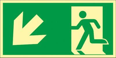 Bord Trap omlaag, naar links