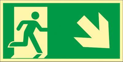 Bord Trap omlaag, naar rechts