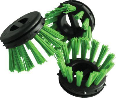 Borstelinzet voor rubberen ringmat, groen