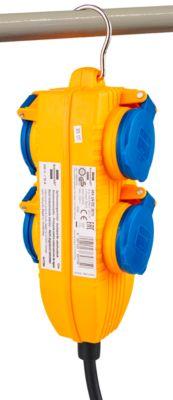 Bouwplaatskabel, haardstoel® IP 54 met vermogensblok, 5 m