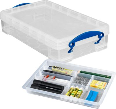 Box, Kunststoff, Really useful Boxes SET, 4 l + Einsatz