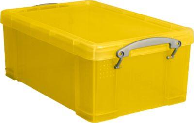 Box, Kunststoff, transparent gelb, 9 l