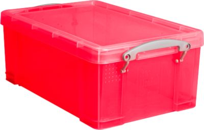 Box, Kunststoff, transparent rot, 9 l