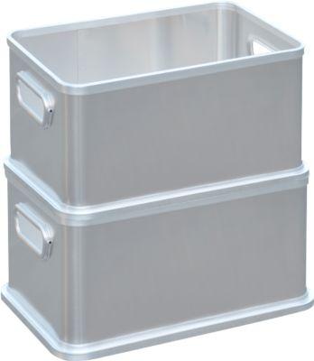 Box set, aluminium, zonder deksel, 30, 50, 80 + 120 liter