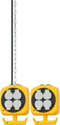 Brennenstuhl pendelverdeler, kabellengte 5 m, met 3 m stalen schakelketting.