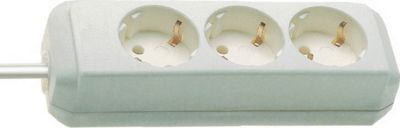 brennenstuhl® stekkerpanelen met randaarde, 3 -voudig, zonder schakelaar, wit