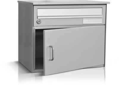 Briefkasten Skat, für Wandmontage, weissaluminium