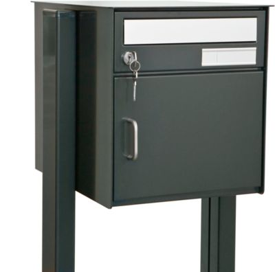 Briefkasten Wega, für freistehende Montage, anthrazit