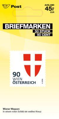 Briefmarken á € 0,90 (PRIO S Ausland), 50 Stk.