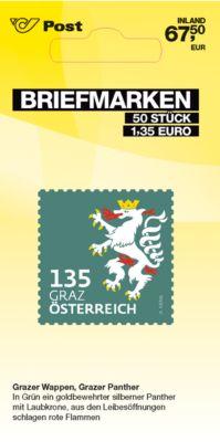 Briefmarken á € 1,35 (PRIO M Inland), 50 Stk.