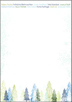 Briefpapier Trees, 25 Blatt
