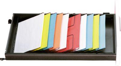 Briefpapierkorf voor laden 600 mm diep, 7 vakken DIN A4