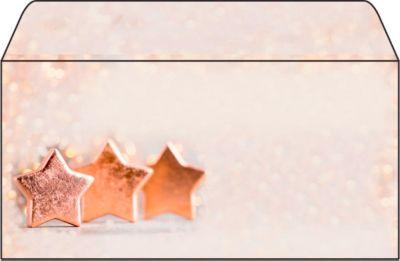 Briefumschlag mit Weihnachtsmotiv Sigel Copper Glance, DIN lang, 90g/m², 50 Stück
