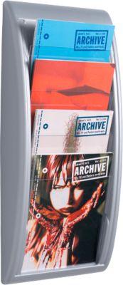 Brochure wandhouder, voor A4 formaat staand, alu kleur