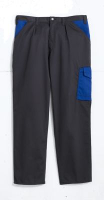 Broek antraciet/blauw, 46