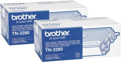 Broer tonercartridges TN-3280 dubbelpak TN-3280, zwart